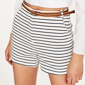 Zara navy & blue striped shorts!